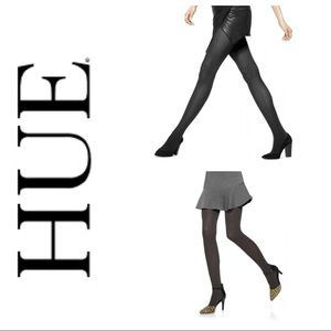 NWT HUE 2 PACK OPAQUE CONTROL TOP TIGHTS LARGE